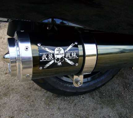 マグザム(SG17J)05年~07年 武装戦線BLITZマフラーキット ブラックメタル コタニモータース(KOTANI MOTORS)