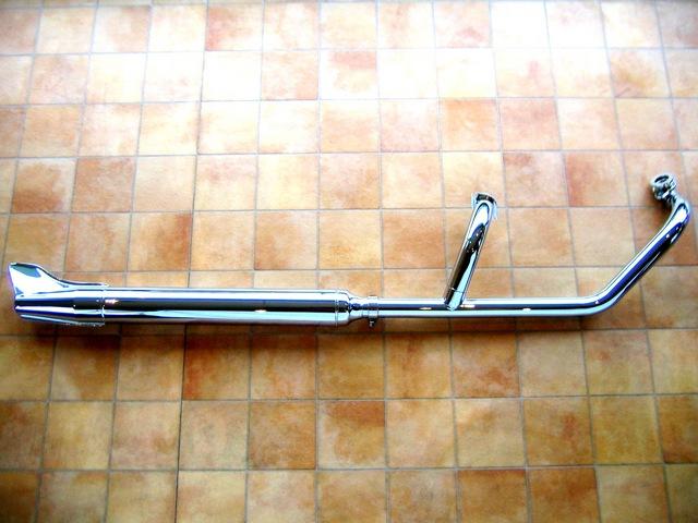 ドラッグスター400/クラシック キャブ車 クラシック2in1マフラー(フィッシュ) KENTEC(ケンテック)