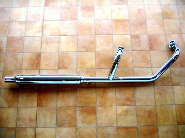 ドラッグスター400/クラシック インジェクション車 クラシック2in1マフラー(FL) KENTEC(ケンテック)