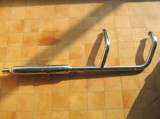 シャドウ750(SHADOW)04~07年 クラシック2in1マフラー(FL) KENTEC(ケンテック)