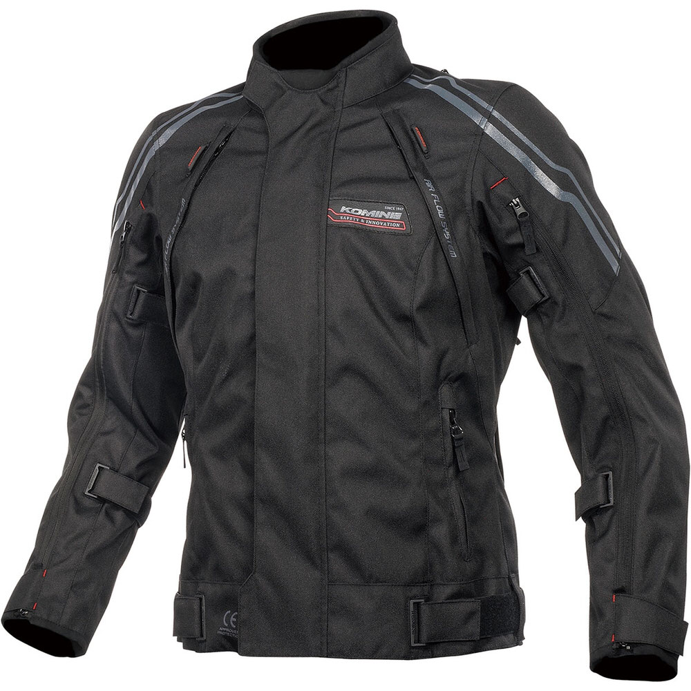 JK-599 フルイヤーシステムジャケット ブラック/レッド XLサイズ コミネ(KOMINE)