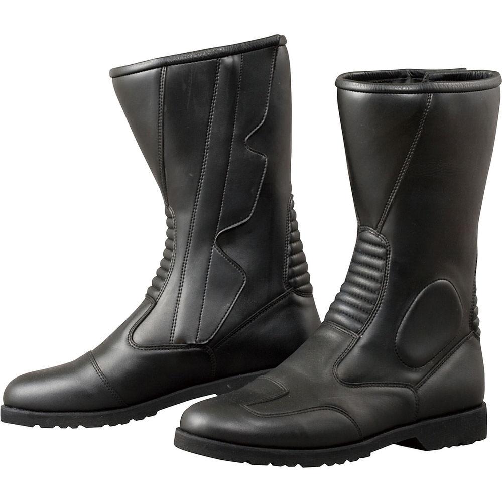 K520 サイドジッパーワイドブーツ ブラック サイズ24cm コミネ(KOMINE)