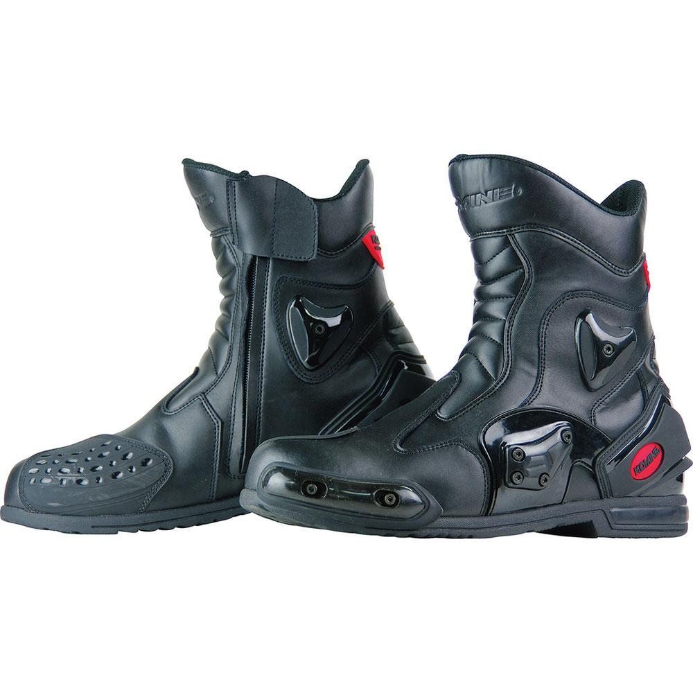 BK-067 プロテクトスポーツショートライディングブーツ ブラック サイズ28cm コミネ(KOMINE)