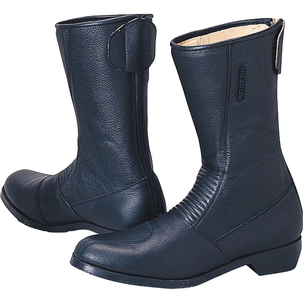 K202 スパジオ 202ワイドブーツ ブラック サイズ25cm コミネ(KOMINE)