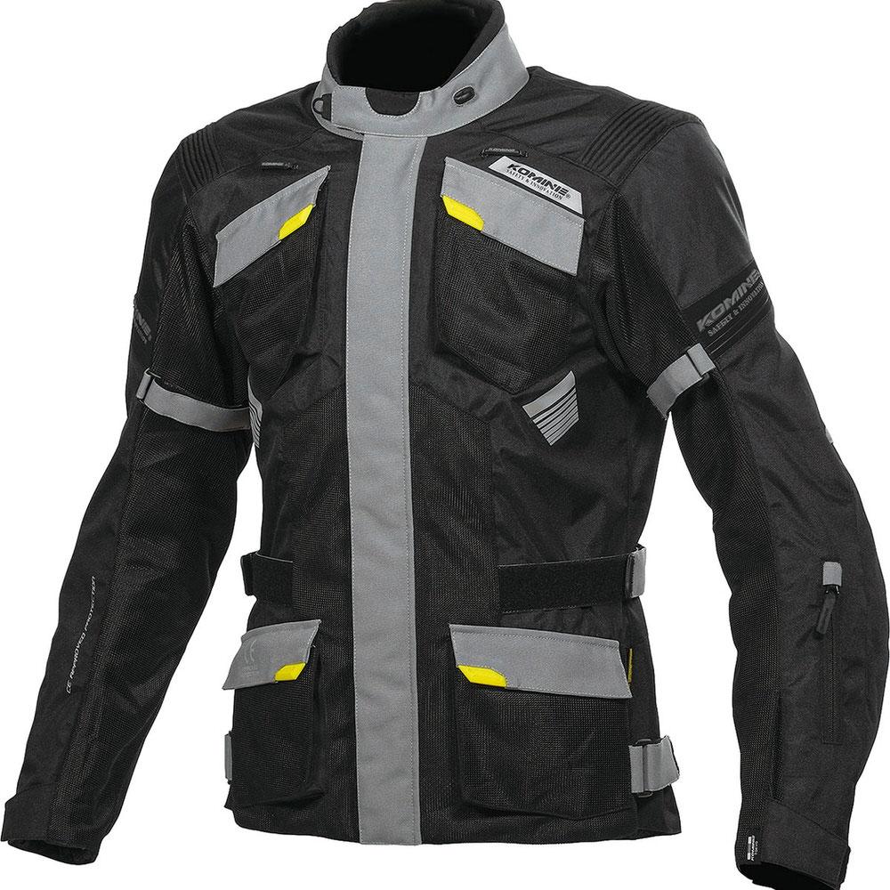 JK-142 プロテクトアドベンチャーメッシュジャケット ブラック/グレイ WXLサイズ コミネ(KOMINE)