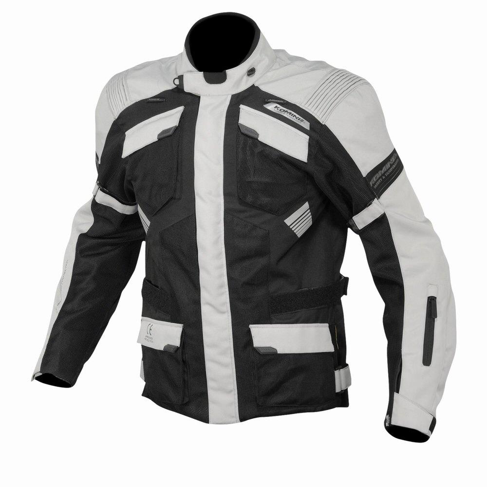 JK-142 プロテクトアドベンチャーメッシュジャケット ライトグレイ/ブラック 3XLサイズ コミネ(KOMINE)