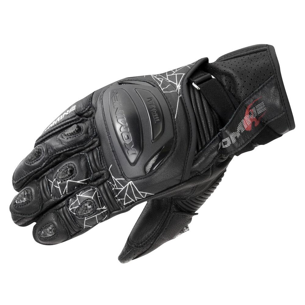 GK-236 チタニウムスポーツグローブ ブラック Lサイズ コミネ(KOMINE)