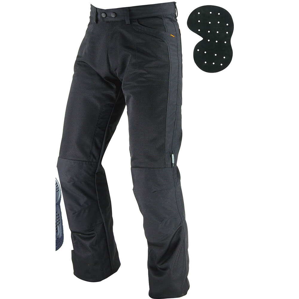 PK-710 ライディングメッシュジーンズ2 ブラック Lサイズ コミネ(KOMINE)