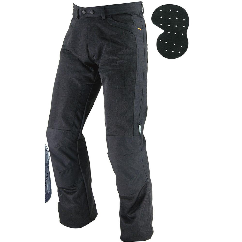 PK-710 ライディングメッシュジーンズ2 ブラック 6XLBサイズ コミネ(KOMINE)