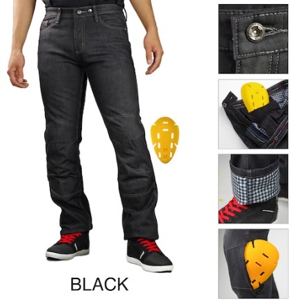 07-932 WJ-932R プロテクトウインドプルーフウォームジーンズ ブラック XLサイズ コミネ(KOMINE)
