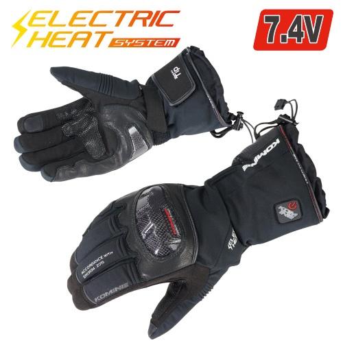 EK-200 08-200 カーボンプロテクトエレクトリックグローブ ブラック Lサイズ コミネ(KOMINE)