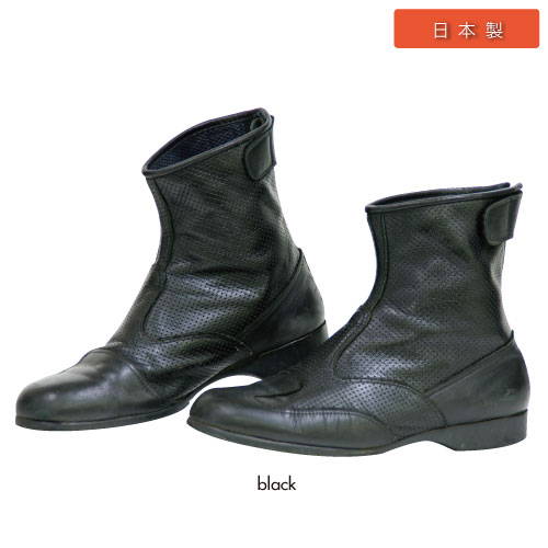 BK-066 エアスルーショートブーツ ブラック 24.5cm コミネ(KOMINE)