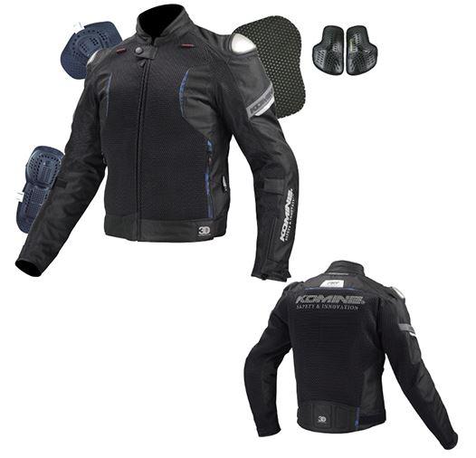 07-107 JK-107 チタニウムメッシュジャケット-カイ ブラック 3XLサイズ コミネ(KOMINE)
