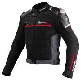 JJ-001 00-001 チタニウムメッシュジャケット ブラック 2XLサイズ コミネ(KOMINE)