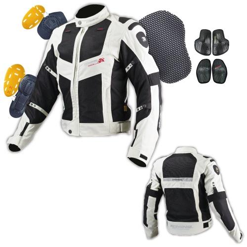 送料無料 国産品 JJ-003 00-003 ツアラーメッシュジャケット 当店一番人気 ブラック WLサイズ KOMINE コミネ シルバー