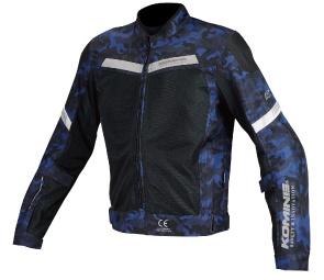 JK-127 07-127 プロテクトハーフメッシュジャケット ブルーカモ/ブラック 2XLサイズ コミネ(KOMINE)