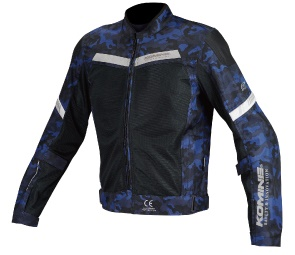 JK-127 07-127 プロテクトハーフメッシュジャケット ブルーカモ/ブラック Lサイズ コミネ(KOMINE)