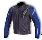 JK-128 07-128 プロテクトフルメッシュジャケット ブラック/ブルー Lサイズ コミネ(KOMINE)