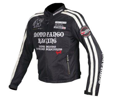 MJ-003 17-003 ダブルラインメッシュジャケット ブラック/シルバー WLサイズ コミネ(KOMINE)