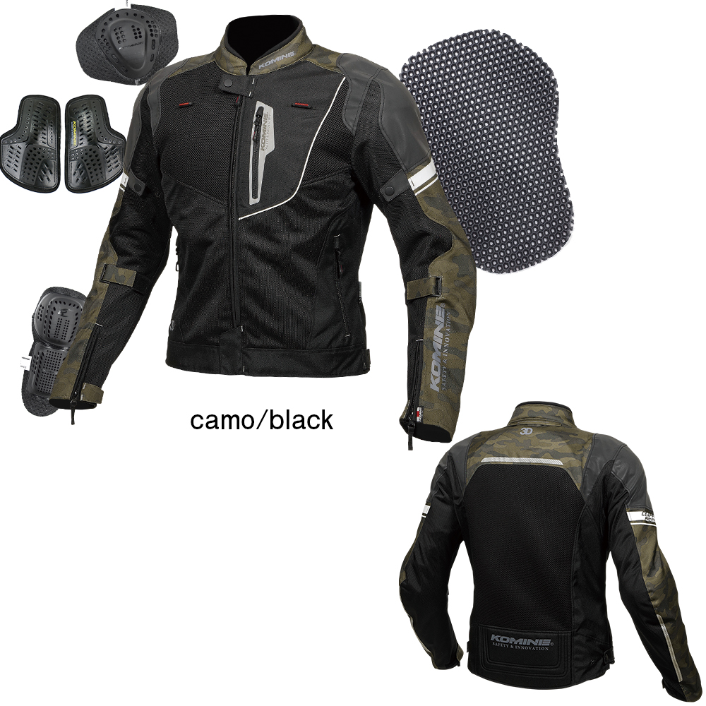 JK-131 リフレクトメッシュジャケット カモ/ブラック 3XLサイズ コミネ(KOMINE)