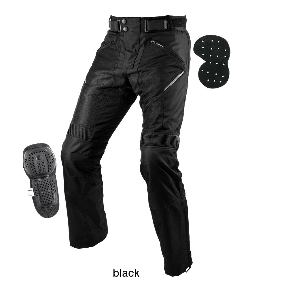 【送料無料】 PK-743 プロテクトライディングメッシュパンツ ブラック Lサイズ コミネ(KOMINE)