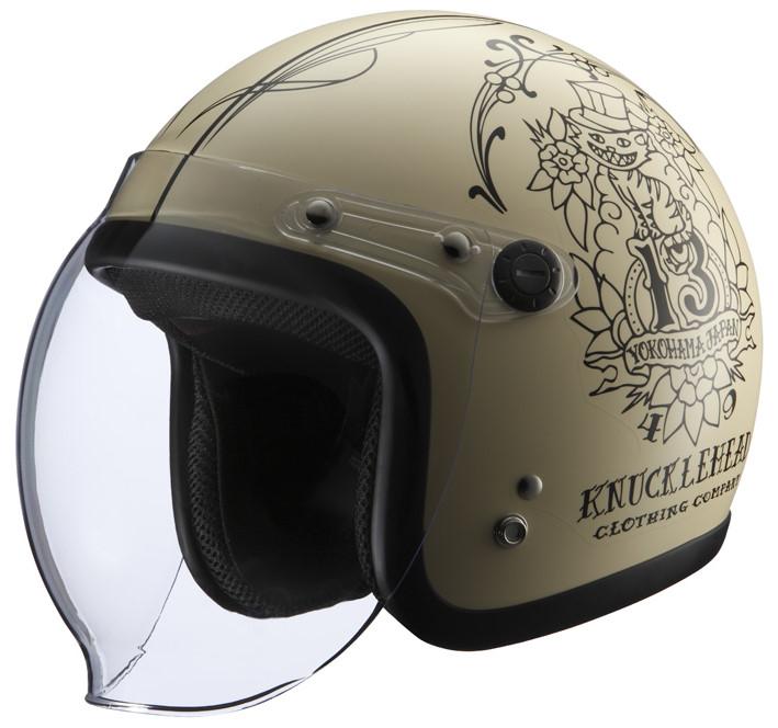 シールド付きヘルメット WildCat2 マットアイボリー フリーサイズ(57-60cm) KNUCKLE HEAD(ナックルヘッド)