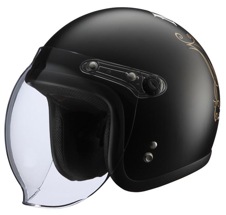 シールド付きヘルメット NoGutsNoGlory2 マットブラック フリーサイズ(57-60cm) KNUCKLE HEAD(ナックルヘッド)