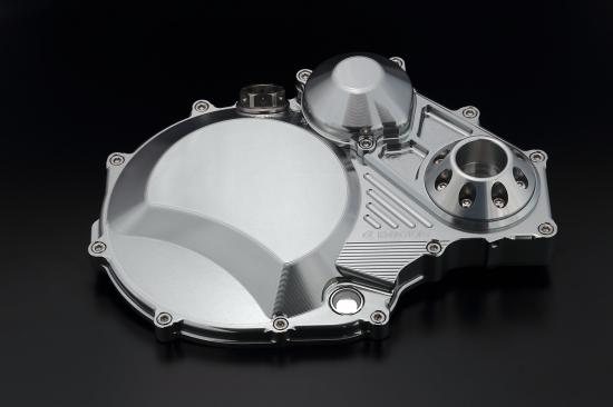 ZRX1200 DAEG(ダエグ) クラッチカバー TYPE2 シルバー アルミスライダー付 K-FACTORY(ケイファクトリー)