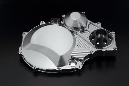 ZRX1200 DAEG(ダエグ) クラッチカバー TYPE2 シルバー ジュラコンスライダー付 K-FACTORY(ケイファクトリー)