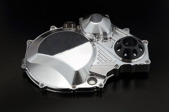 GPZ900R Ninja(ニンジャ) クラッチカバー TYPE2 ポリッシュ仕上げ ジュラコンスライダー付 K-FACTORY(ケイファクトリー)