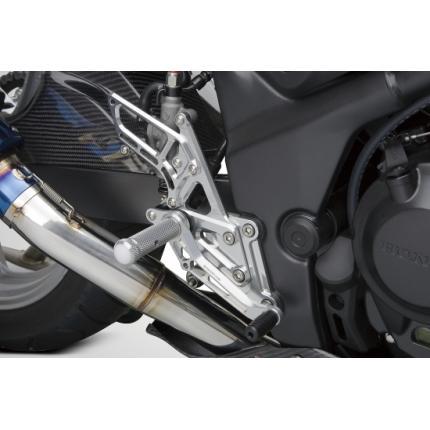 ライディングステップ for RACE Use メタリックシルバー CBR250R(10年~) K-FACTORY(ケイファクトリー)