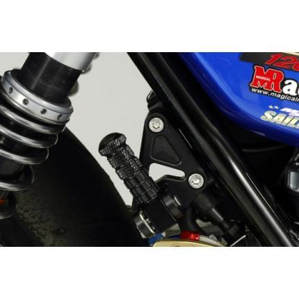 タンデムステップキット スーパーブラック ZRX1200(~09年) K-FACTORY(ケイファクトリー)