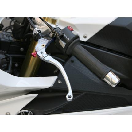 可倒式ビレットクラッチレバー BMW用 スーパーブラック S1000RR(10~11年) K-FACTORY(ケイファクトリー)