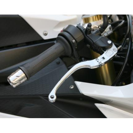可変式 可倒ビレットブレーキレバー BMW用 メタリックシルバー S1000RR(10~11年) K-FACTORY(ケイファクトリー)