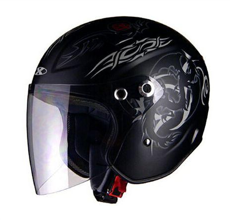 X-AIR RAZZOIII G1 ジェットヘルメット マット/ドラゴン リード工業
