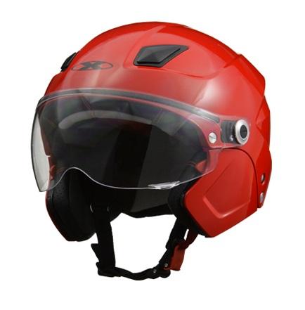 X-AIR SOLDAD(ソルダード)レッド システムセミジェットヘルメット フリーサイズ(57~60cm未満) リード工業