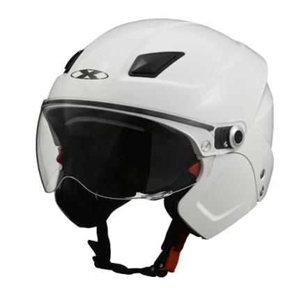 X-AIR SOLDAD(ソルダード)ホワイト システムセミジェットヘルメット フリーサイズ(57~60cm未満) リード工業