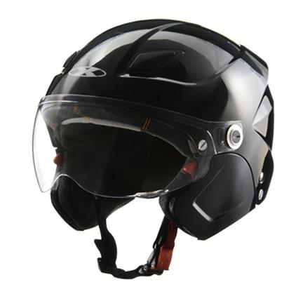 X-AIR SOLDAD(ソルダード)ブラック システムセミジェットヘルメット フリーサイズ(57~60cm未満) リード工業