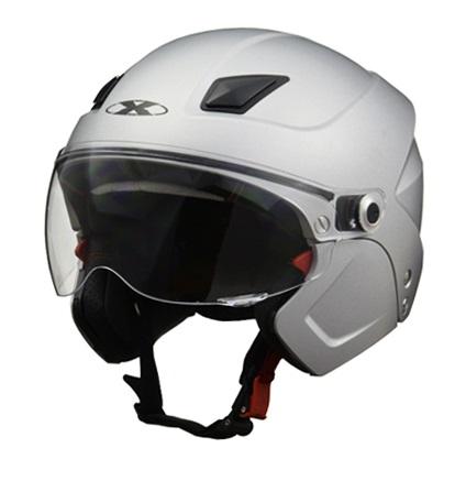 X-AIR SOLDAD(ソルダード)マットシルバー システムセミジェットヘルメット フリーサイズ(57~60cm未満) リード工業