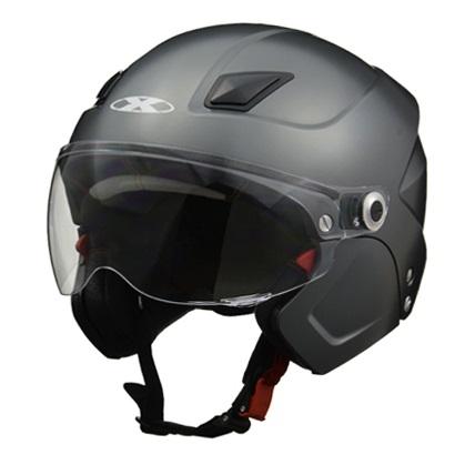 X-AIR SOLDAD(ソルダード)スモーキーシルバー システムセミジェットヘルメット フリーサイズ(57~60cm未満) リード工業