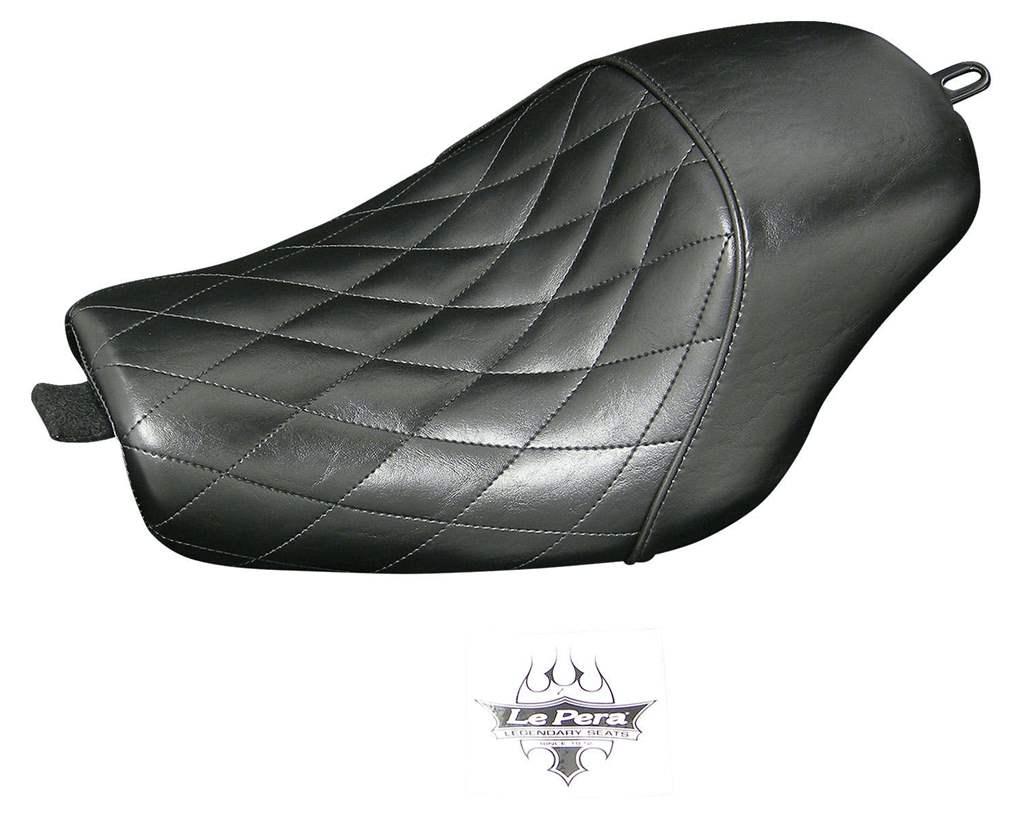 スポーツスター(07~09年) 011526 ベアボーンソロシートダイアモンドステッチ ネオファクトリー製48タンク装着車用 LePera(ラペラ)