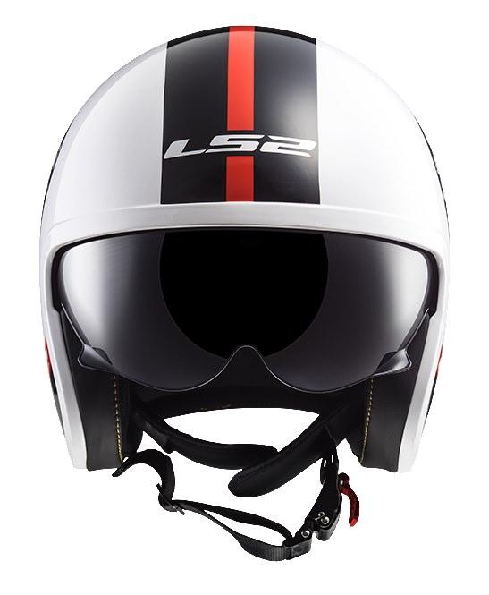 SPITFIRE スピットファイア ヘルメット ホワイトブラック Lサイズ LS2(エルエス2)