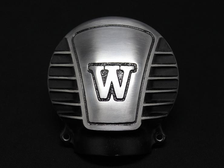 送料無料 W650 業界No.1 WEB限定 べベルギアカバーW with MOTORROCK フィンブラック モーターロック
