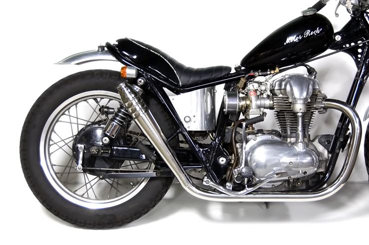 W650 69メガホン フルエキゾースト HIGH MOTORROCK(モーターロック)
