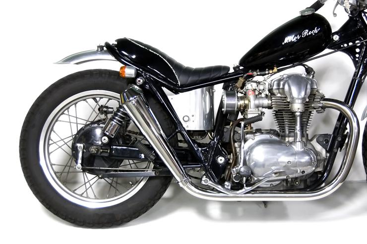 W650 メガホンマフラー フルエキゾースト HIGH MOTORROCK(モーターロック)