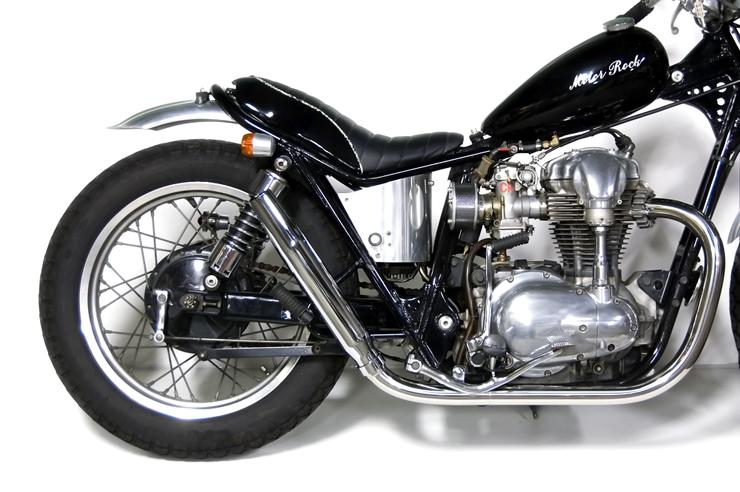 W650 テーパードマフラー フルエキゾースト HIGH MOTORROCK(モーターロック)