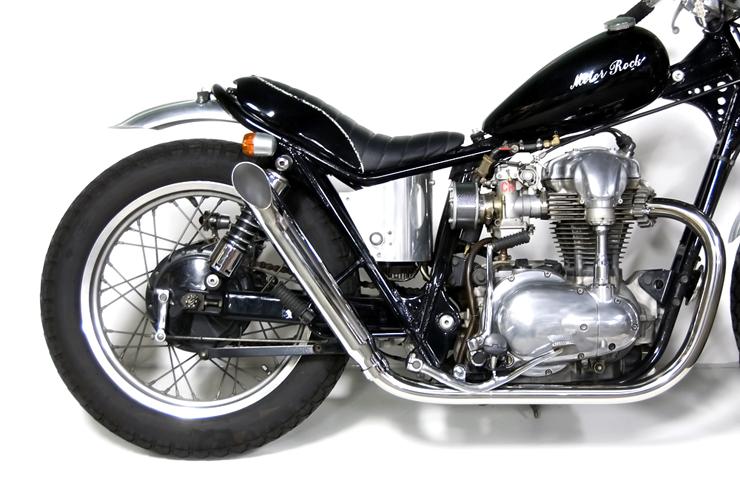 W650 ターンアウトマフラー フルエキゾースト HIGH MOTORROCK(モーターロック)