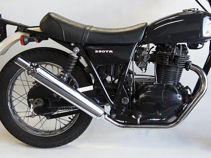 250TR(キャブ車) ヴィンテージマフラー フルエキゾースト アップタイプ MOTORROCK(モーターロック)
