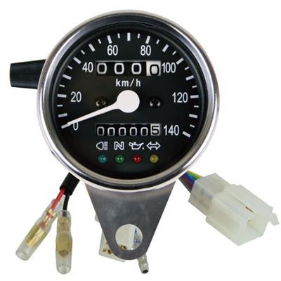 SR400/SR500(93~02年) 60Φインジゲータ内蔵スピードメーターキット/トリップ付き・LED照明 GOODS(モーターガレージグッズ)