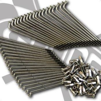 SR400/SR500 ステンレススポーク単品 18インチ フロント GOODS(モーターガレージグッズ)